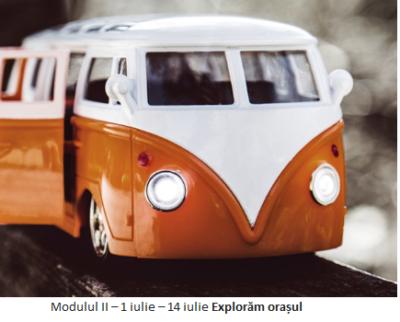 """Modulul II – 1 iulie – 14 iulie """"Explorăm orașul"""""""